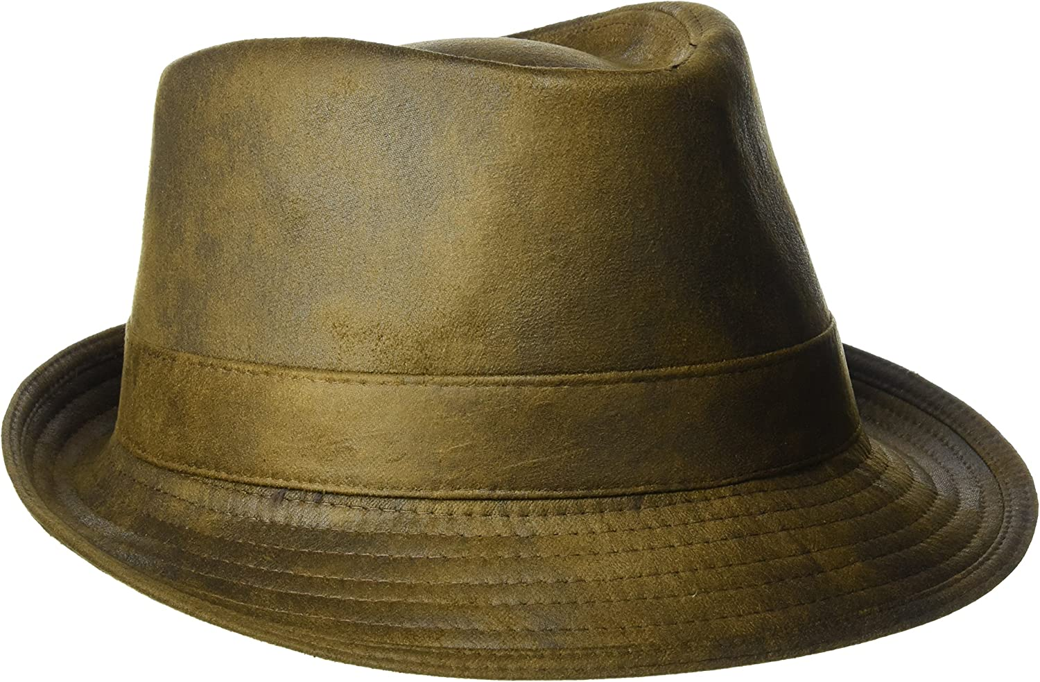 Henschel Men's Faux Ultra-Suede Leather Fedora with Satin Lining