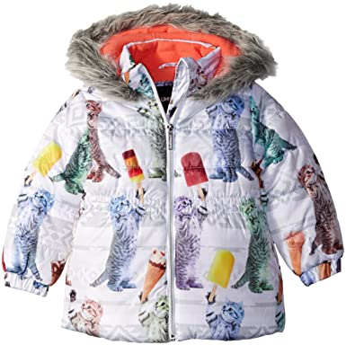 4c4dd4d27fd Limited Too Girls' Printed Cire Puffer