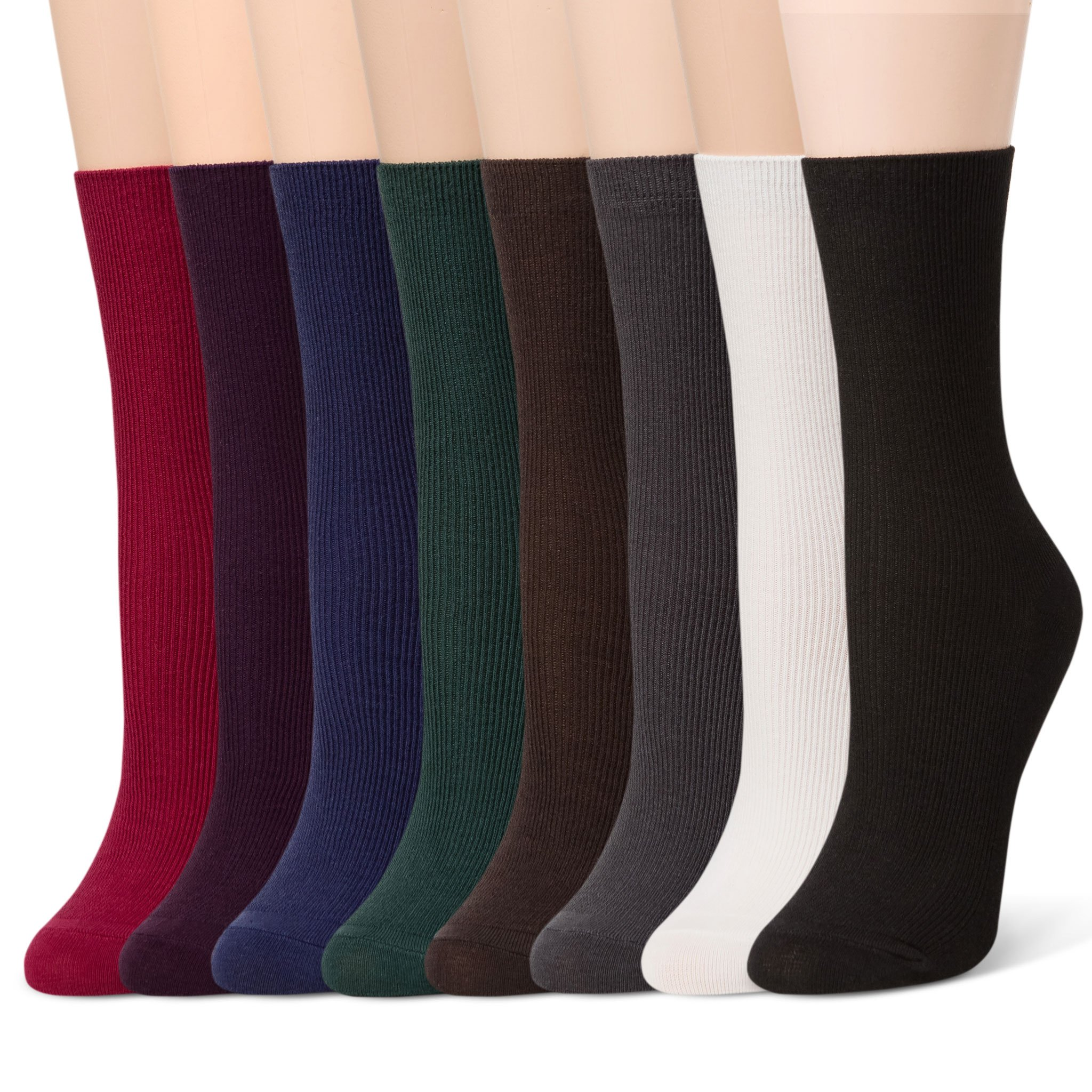 Sheec Basics - Fine Ribbed Cotton Socks (8 Pairs) SetB
