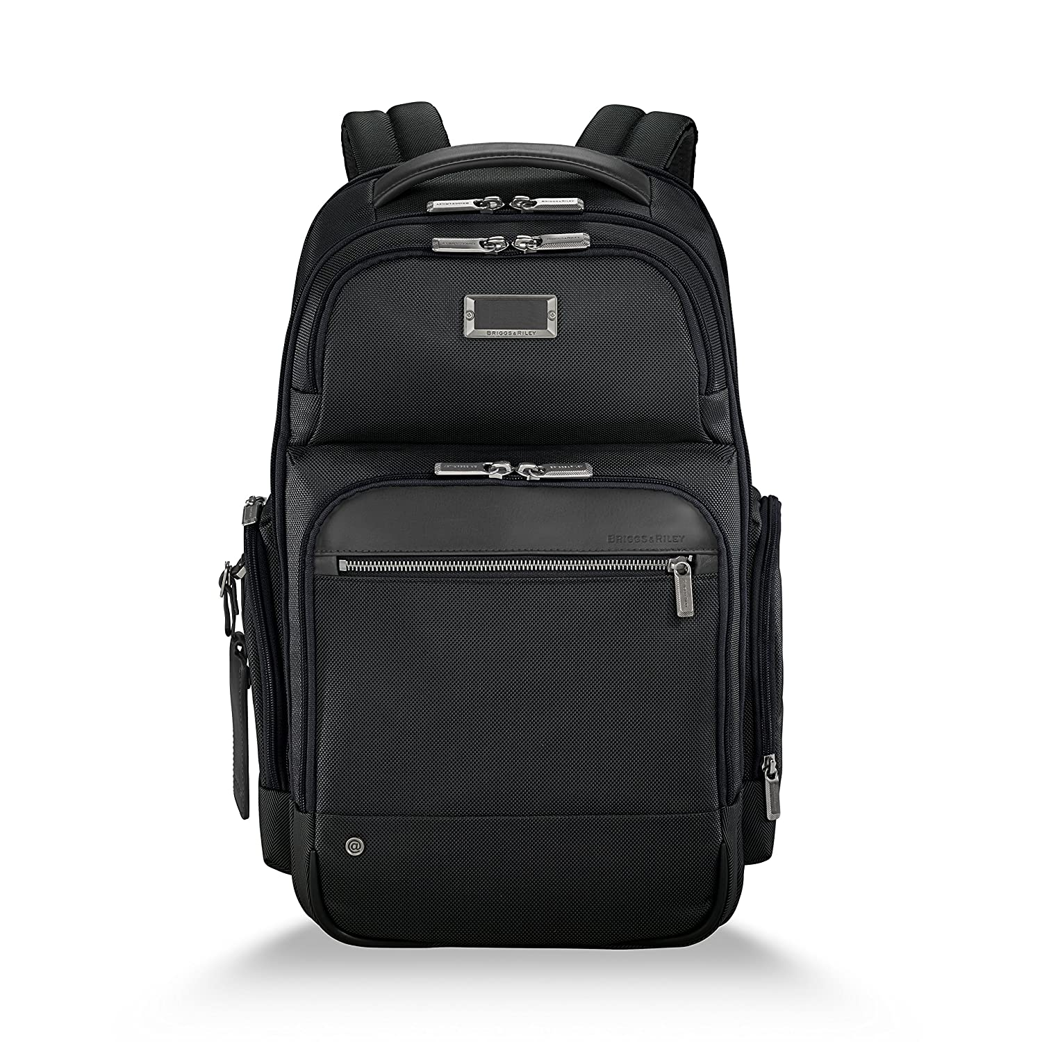 Briggs Riley Work Laptop Backpack for women and men. Fits up to 15.6 inch laptop. Business Travel Laptop Backpack with RFID Blocking Pocket, Black