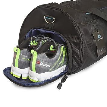 8ad27da6f1421b Breakthru Premium Gym Bag - Women's and Men's Sports Bag Holdall Duffle Bag  - Separate Shoes