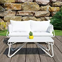 Novogratz Poolside Teddi Loveseat & Coffee Table + $35 Kohls Rewards