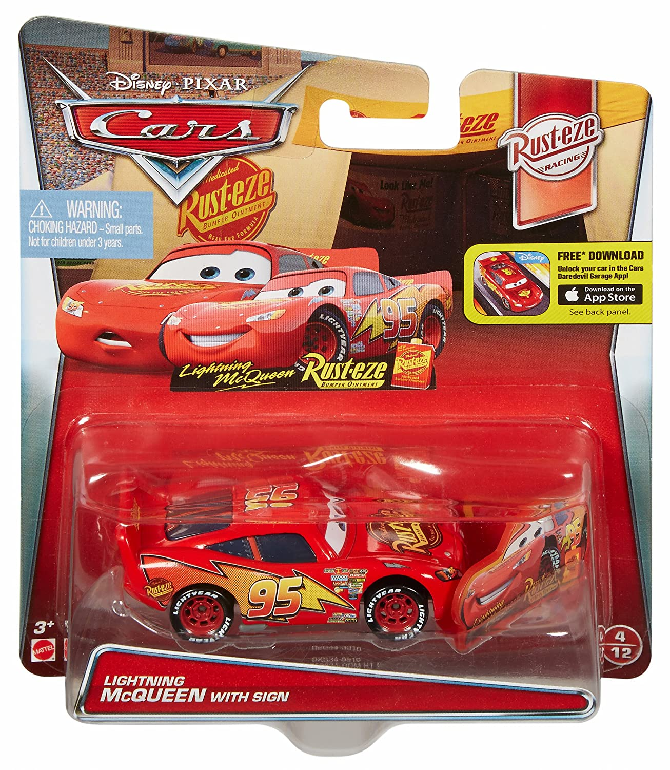 Disney/Pixar Cars Lightning McQueen with Sign Vehicle by Mattel: Amazon.es: Juguetes y juegos