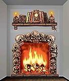 Forum Novelties Haunted House Indoor/Outdoor Fireplace Wall Decoration, 5', Multicolor