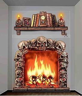 forum novelties haunted house indooroutdoor fireplace wall decoration 5 multicolor
