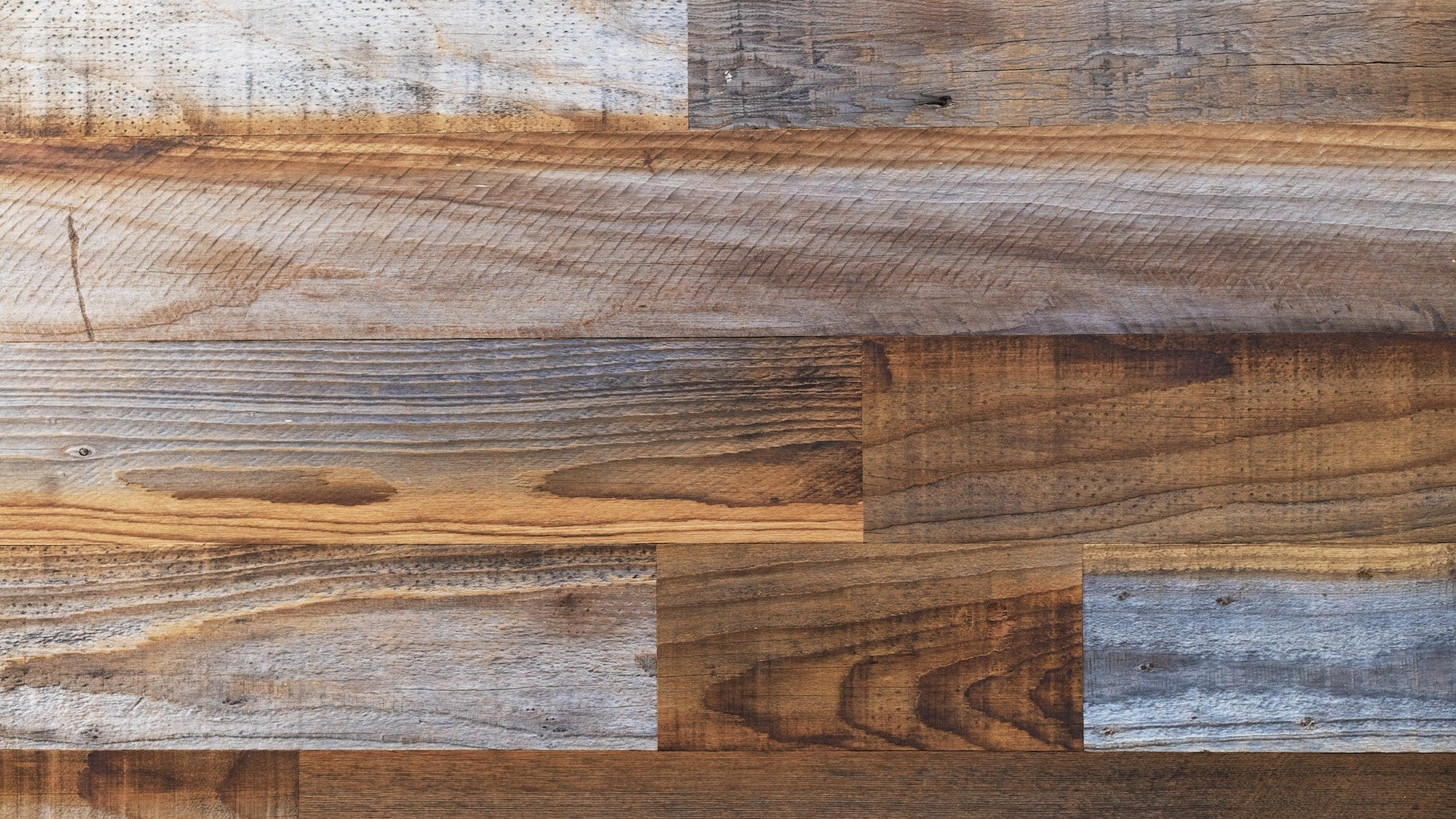 Stikwood Reclaimed Pine Wall Decor, Sierra Silver/Dark Brown by Stikwood