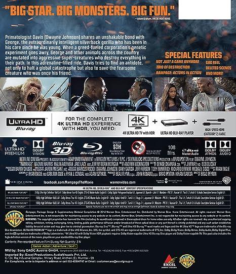 Rampage 4K UHD + Blu-ray 3D + Blu-ray 3-Disc Hindi / Tamil