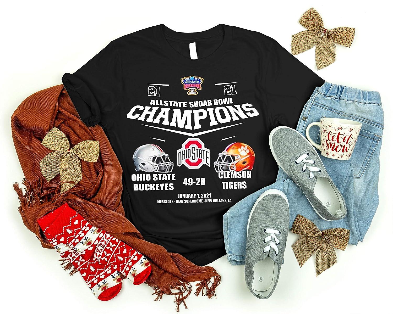 2021 Allstate Sugar-Bowl Champions Ohio State-Buc.keyes 49-28 Clem.son-Tigers Shirt T-shirt Long Sleeve