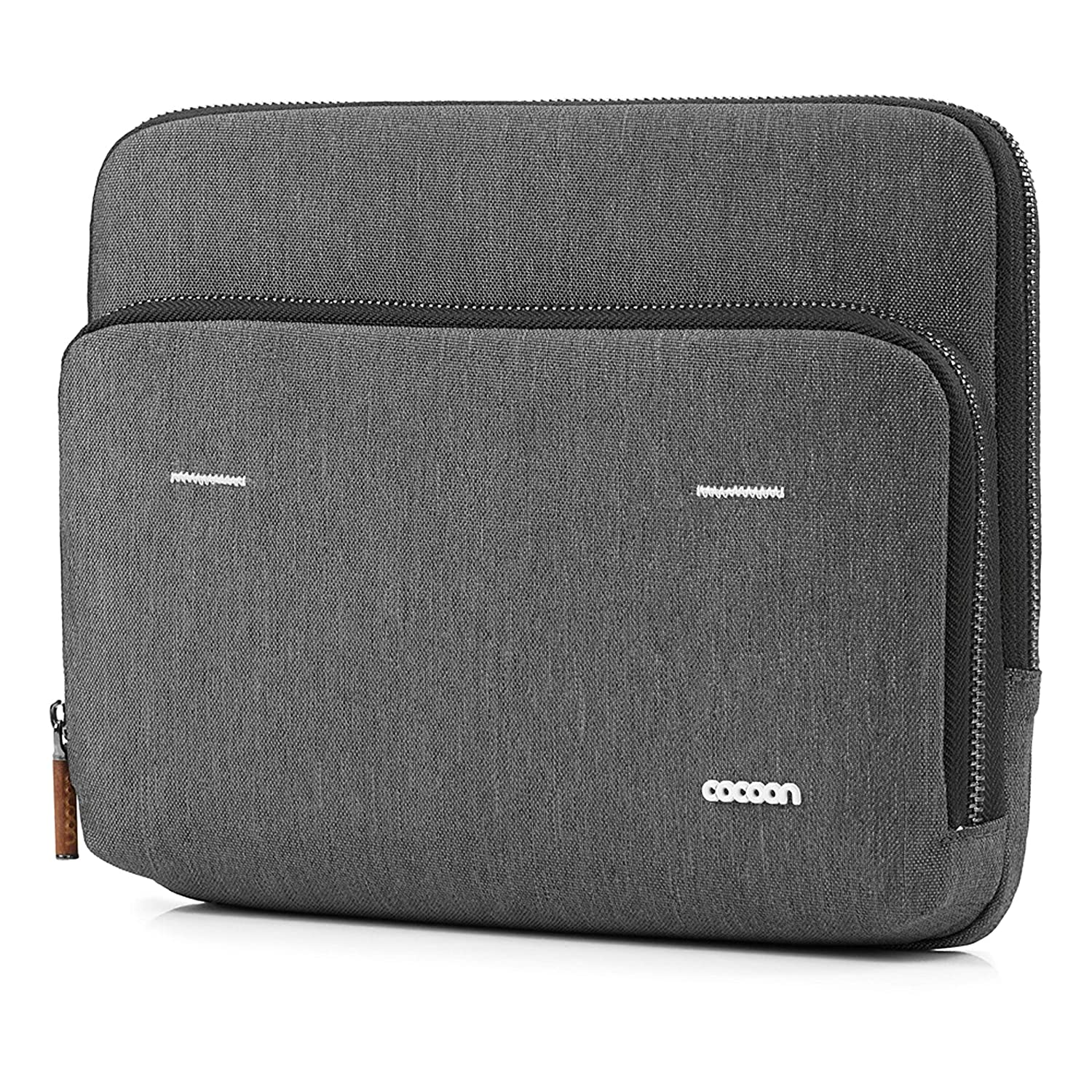 Dark Grey // 36.1x10.7x28.5 cm Cocoon GRAPHITE LETTER Case /& Organizer for MacBook Pro 13 Padded and Water Proof Fake Fur
