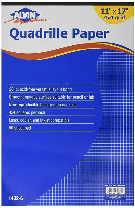 amazon com alvin quadrille paper 4 x 4 inches grid 50 sheet pad