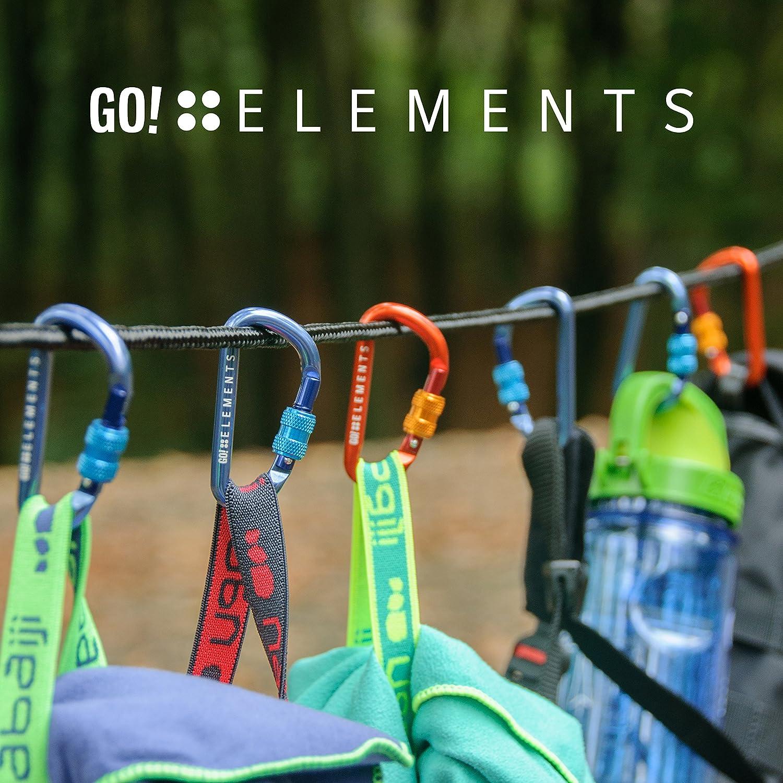 GO!elements Petit Mousqueton Porte Cl/é Micro 6 Mat/ériel Militaire Clef Mini Mousquetons Aluminium pour Sac De Tente Accessoire Escalade Cle 2 ou 6 Pi/èces Anneau
