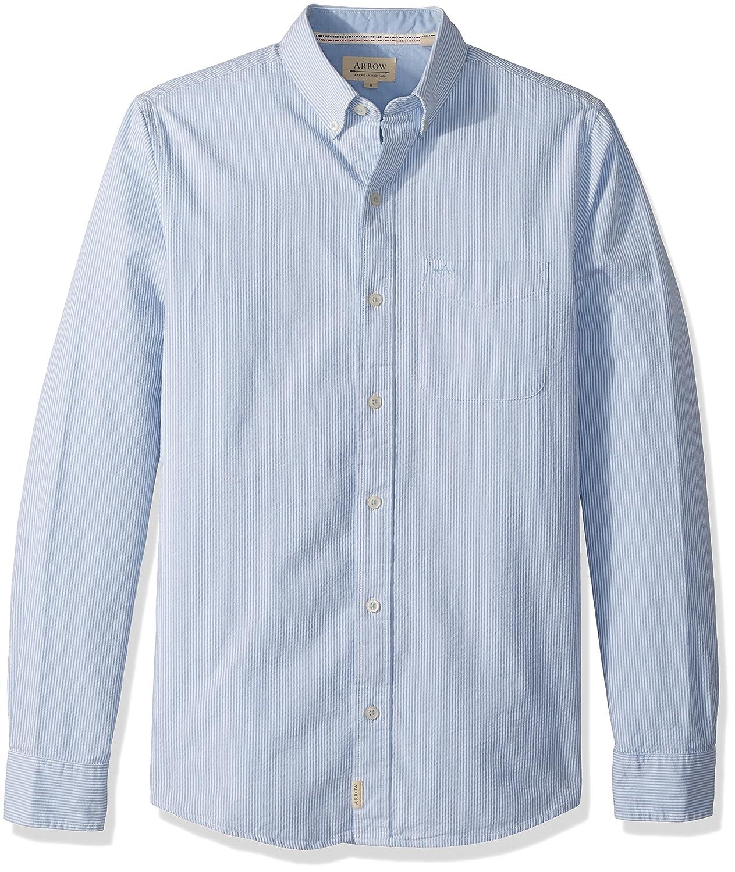 Arrow Mens American Heritage Slim Long Sleeve Seersucker Shirt