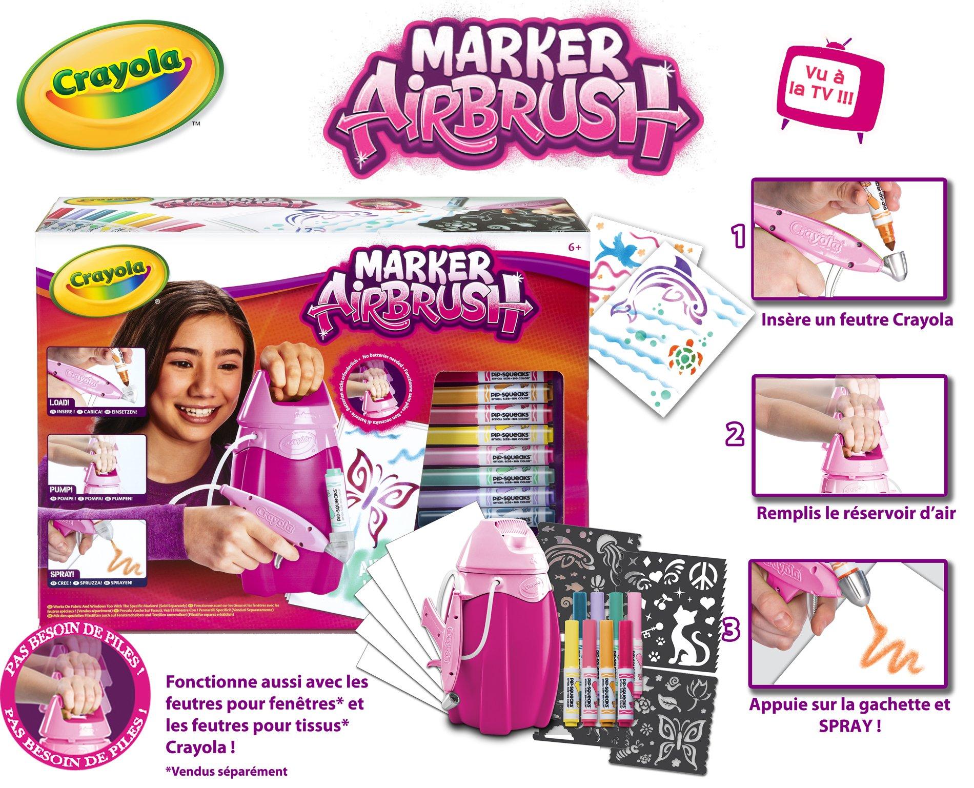 Crayola 04-8732-e-000 Marker Airbrush Hobby Kit–Pink by Crayola (Image #2)