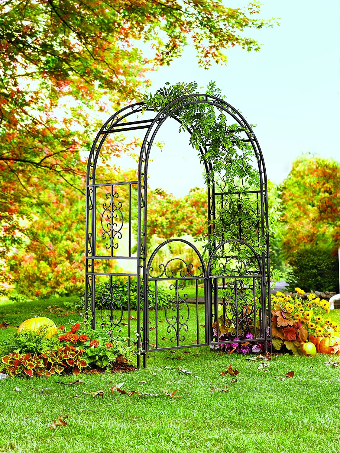 home arbor arch on creates rose landscaping picket with gate decoration pinterest style cottage arbors images of gallery plans combined best outdoor white design gardening and the a fence archway use garden