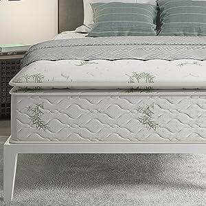 "Signature Sleep 5438096 13"" Hybrid Coil Mattress, Queen, White"