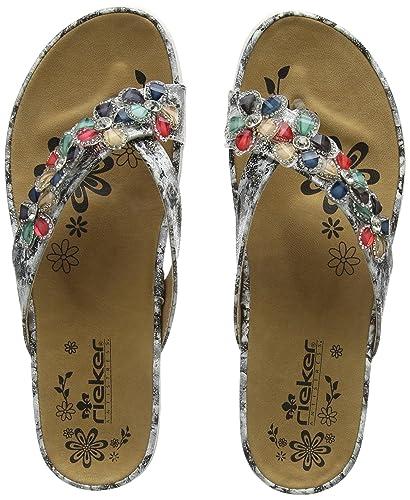premium selection 24f16 aaf0a Rieker Women's V9591 Flip Flops