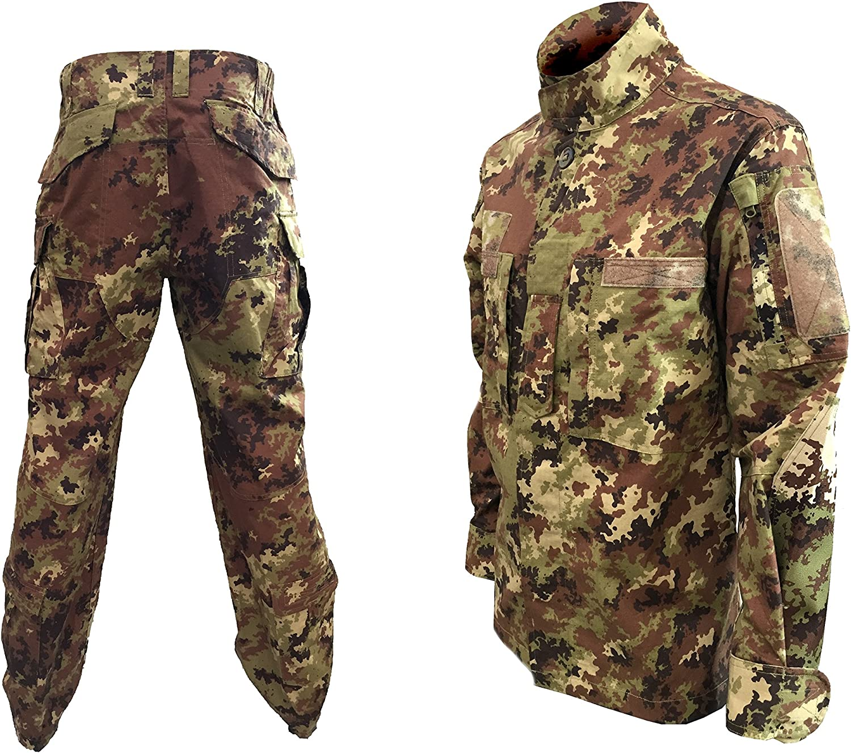 ALGI Completo Uniforme Mimetico da Combattimento Antistrappo Vegetato MOD. Soldato Futuro