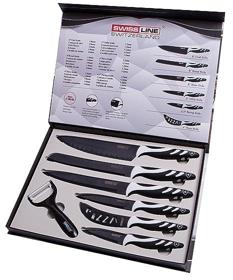 Compra Swiss Line - Juego de 6 cuchillos con pelador ...