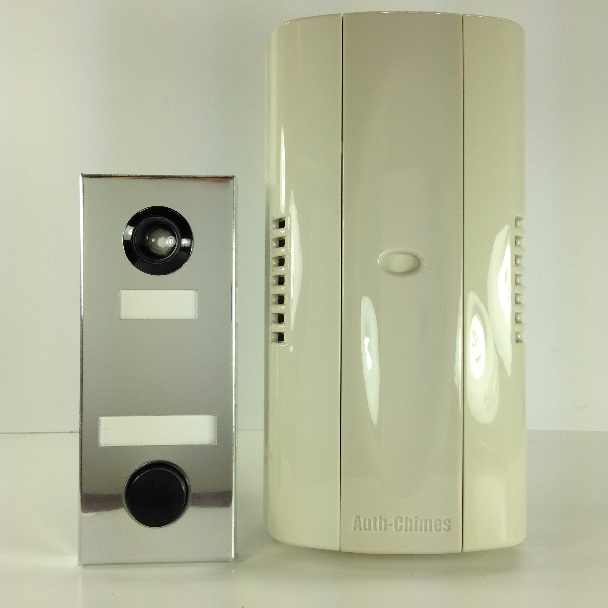 Auth Florence, Non Electric, Mechanical Door Chime, Doorbell and Viewer #686 (Mirror Silver)