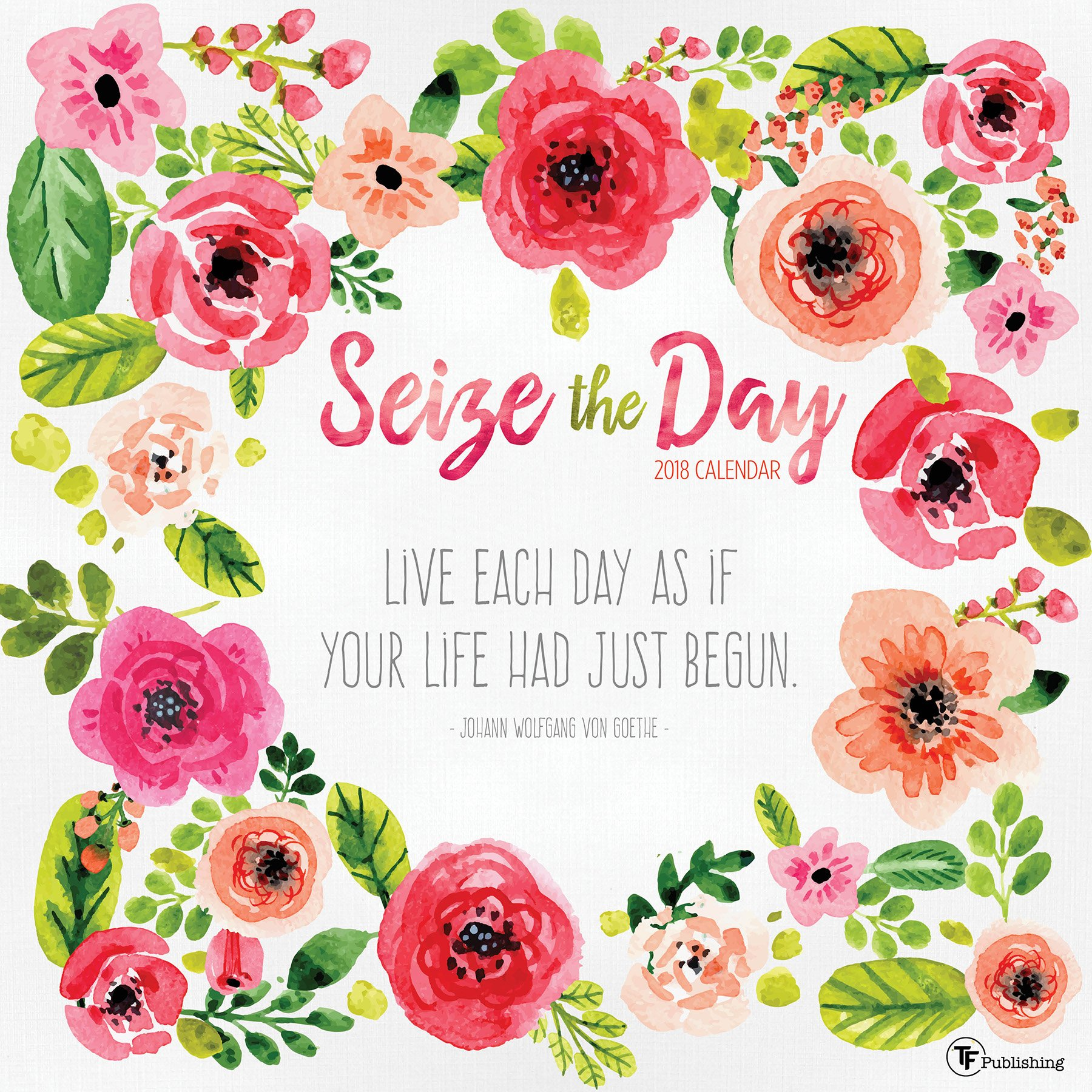 2018 Seize the Day Wall Calendar
