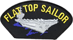 Flat Top Sailor Air Craft Carrier Navy Hat or Shoulder Patch 5 1/2 inch HONFLB1633