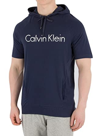 92bd76a712c7 Amazon.com: Calvin Klein Men's Graphic Hooded T-Shirt, Blue: Clothing