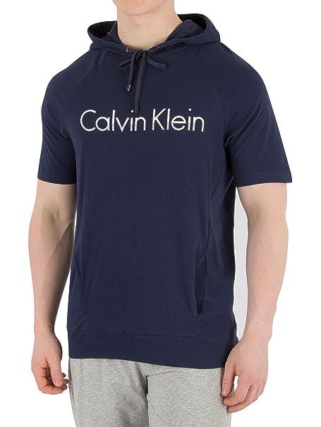 Calvin Klein Hombre Graphic Hooded Camiseta, Azul: Amazon.es: Ropa y accesorios