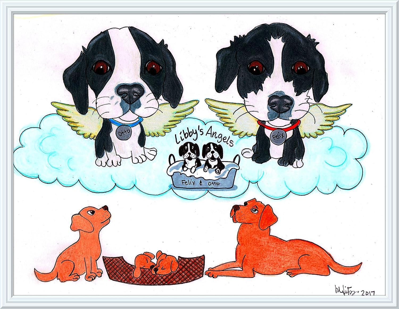 Pet Memorial Cat Portrait Pet Lover Gift Personalized Dog Custom Pet Portrait Dog Portrait Dog Illustration Illustration Cat Pet Art