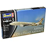 Revell - 03968 - Maquette - Ethiad Airways - Airbus A320 - blanc - Échelle 1/144 - 60 pièces