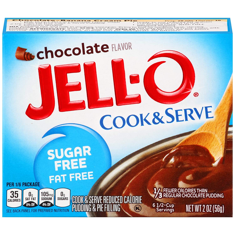 Jell-O Instant Chocolate Sugar-Free Fat Free Pudding & Pie Filling (2 oz Box)