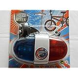 Police bike siren with light