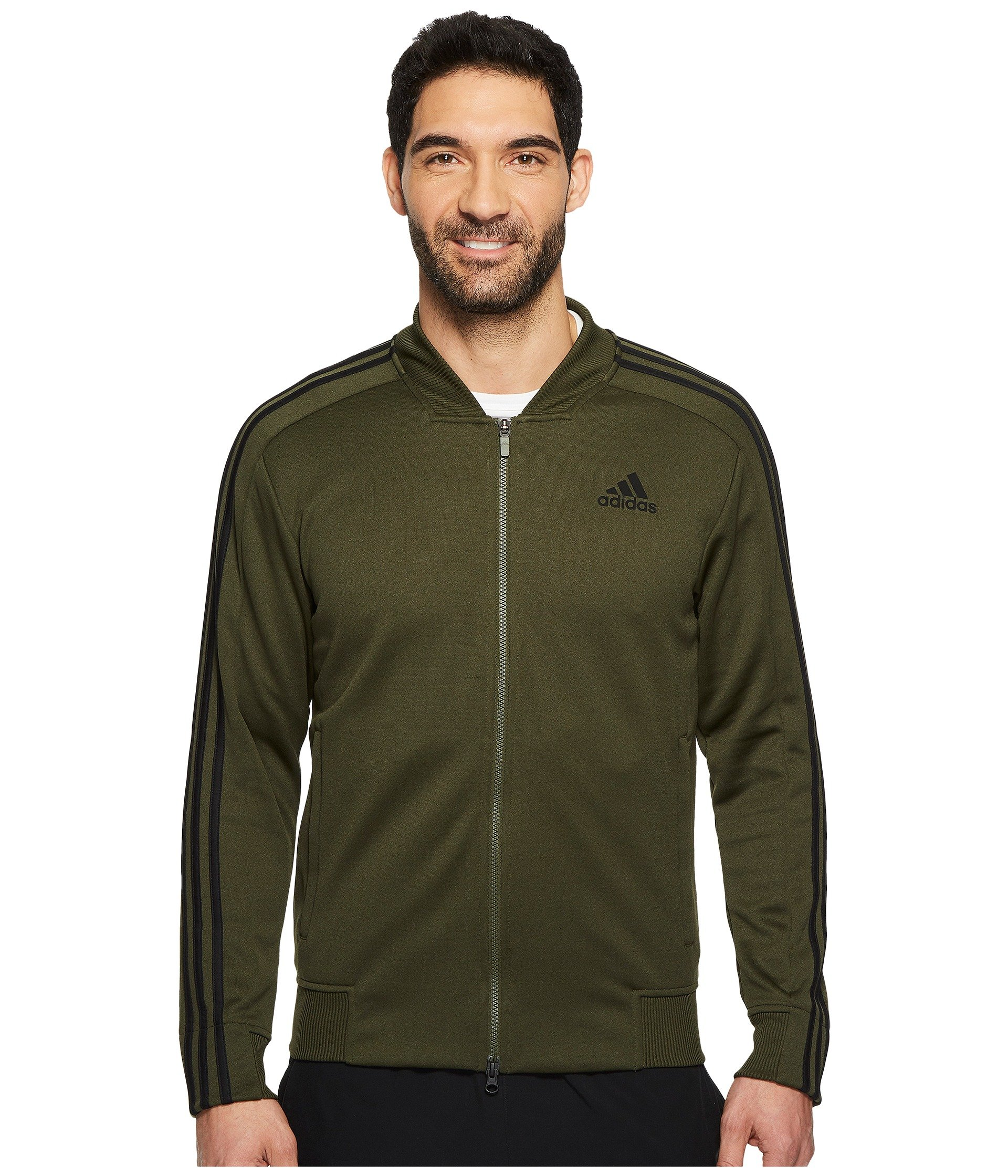 adidas Men's Sport ID Track Bomber Jacket Night Cargo Small by adidas (Image #1)
