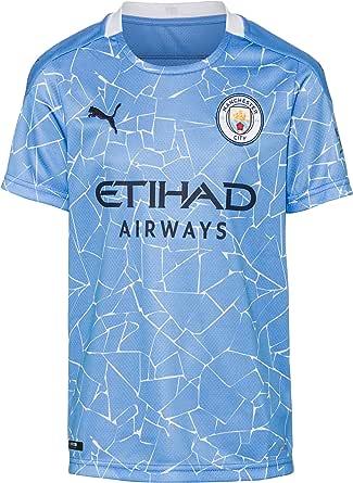 PUMA Uni barntröja 20/21 Home Manchester City Fc Replica barn med sponsor logo T-shirt