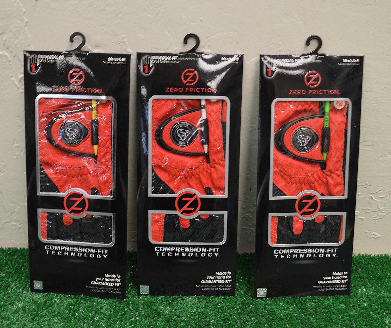 3ゼロ摩擦メンズLeft Handユニバーサルゴルフグローブ – Houston Texans – Red   B077XQ4NSQ