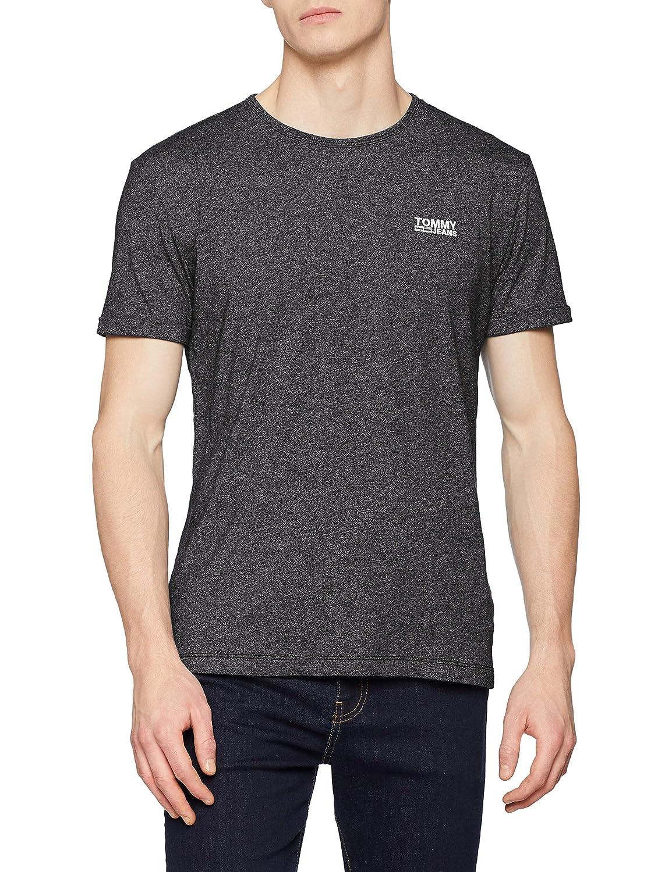 d6c541435 Tommy Jeans Men's Modern Jaspe Short Sleeve Crew Neck T-Shirt:  Amazon.co.uk: Clothing