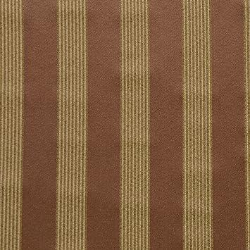Amazon.com: Bronce Oro Rojo Estampado de Rayas tela De ...