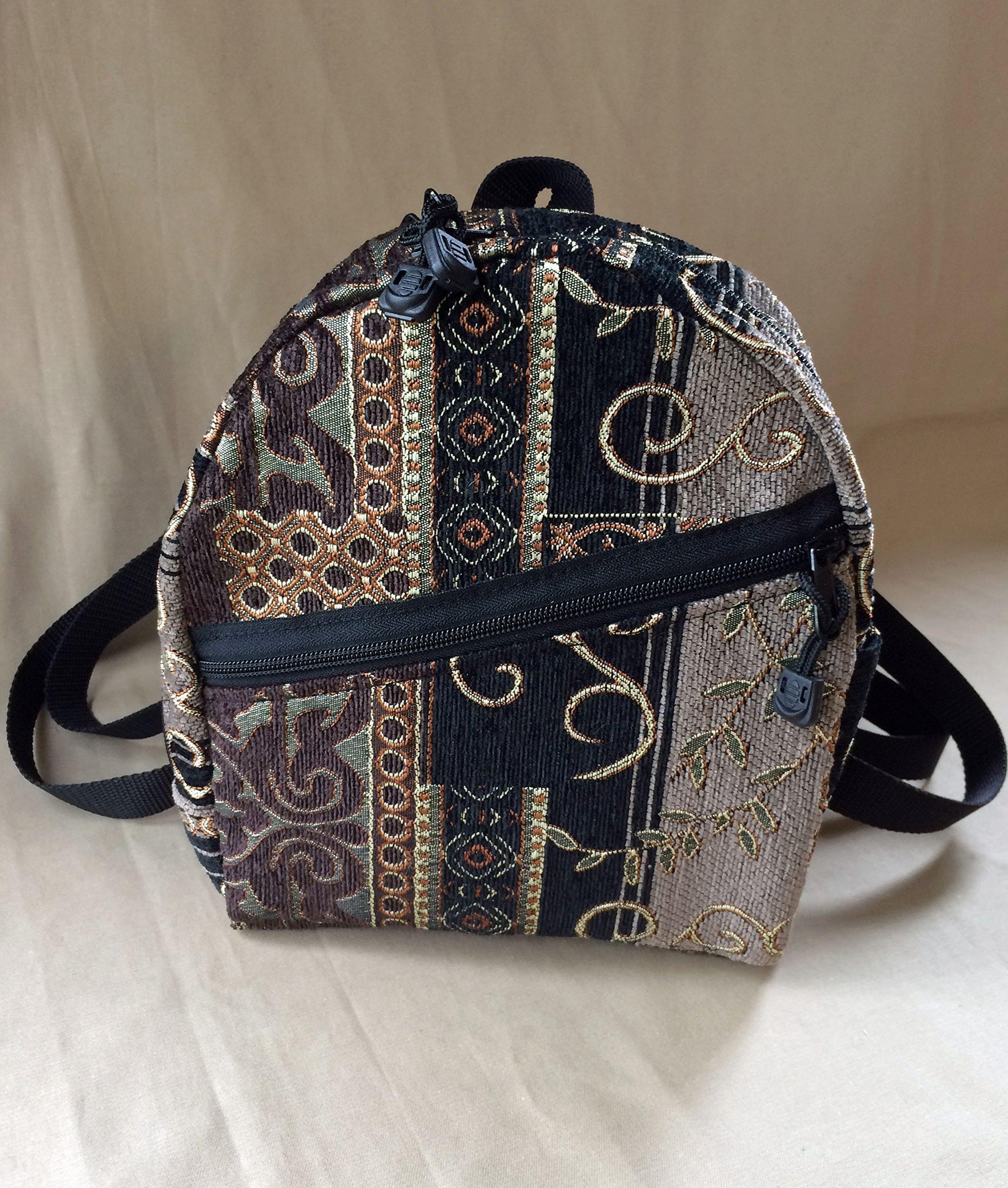 Ladies Backpack Purse Backpack Handbag in Dartmouth Tapestry handmade by MKI Bags