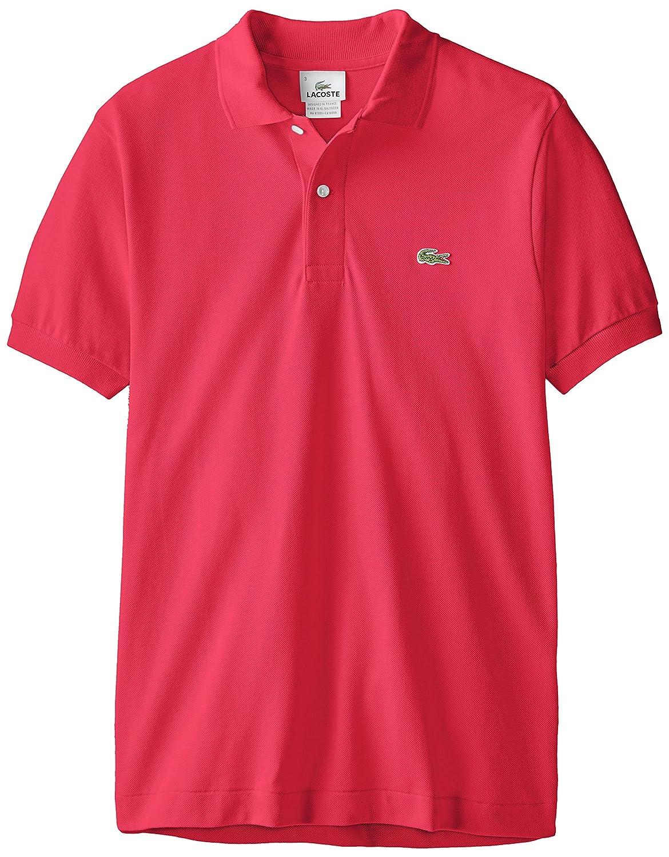 Lacoste ラコステMen's L-1212,半袖 鹿の子 ポロシャツ(並行輸入品) B000PYBYWE 2-XXS|ピンク ピンク 2-XXS