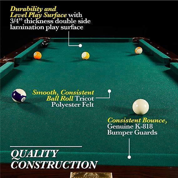 Barrington - Juego de mesa de billar - BLL090_066B, 228.60 cm - Springdale: Amazon.es: Deportes y aire libre