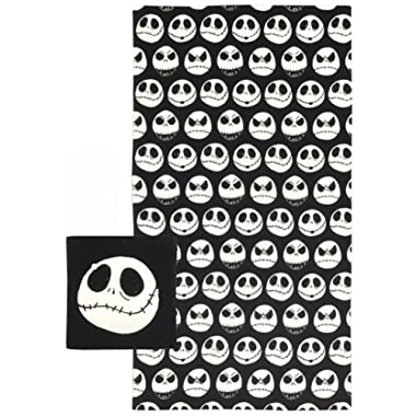 Jay Franco Disney Nightmare Before Christmas Moonlight Madness 2-Piece Cotton Bath and Hand Towel Set