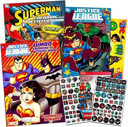 Amazon.com: Super Hero Coloring Book Super Set With 3 Superhero Coloring  Books, 110 Stickers And 26 Temporary Tattoos (3 Superhero Activity Books  Featuring Batman, Superman, Wonder Woman And More): Arts, Crafts & Sewing