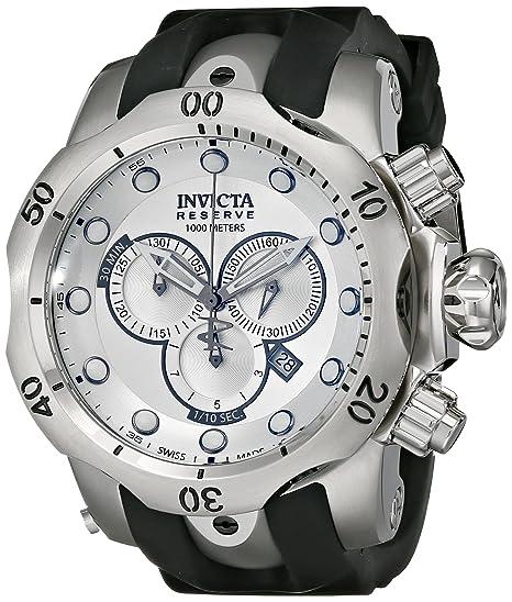 Invicta F0004 - Reloj de Pulsera Hombre, Caucho, Color Negro: Amazon.es: Relojes