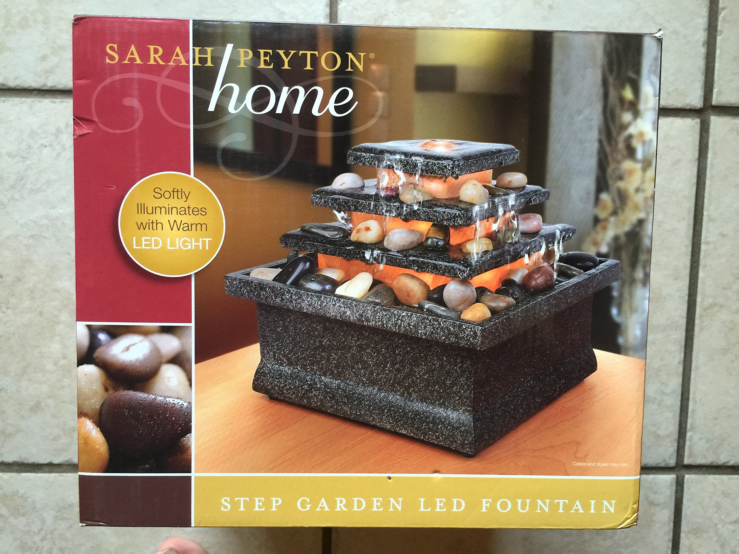 SARAH PEYTON Home Step Garden LED Fountain