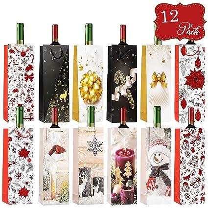12pcs Bolsas Para Botellas De Vino Temáticas De Navidad ...
