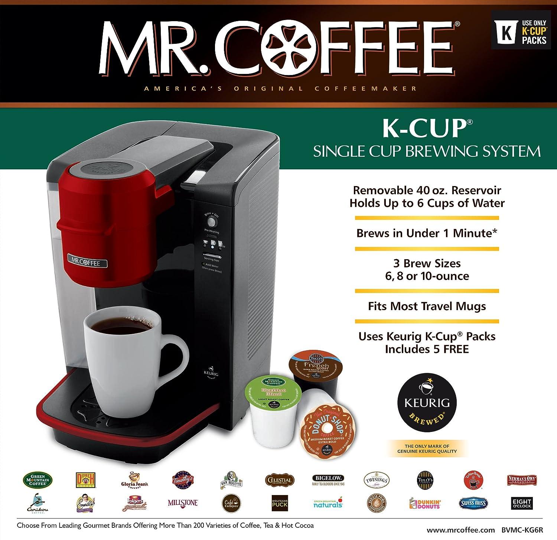 Mr Coffee Bvmc Kg6R 001 Single Serve Coffee Brewer Powered By Keurig