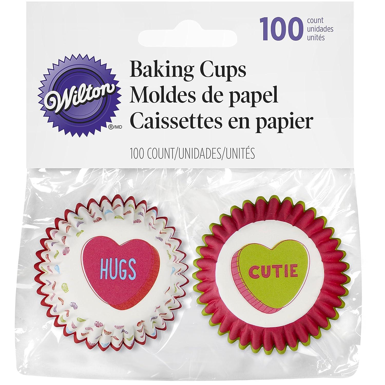 Wilton Mini Baking Cups-Words Can Express 100//Pkg Multi