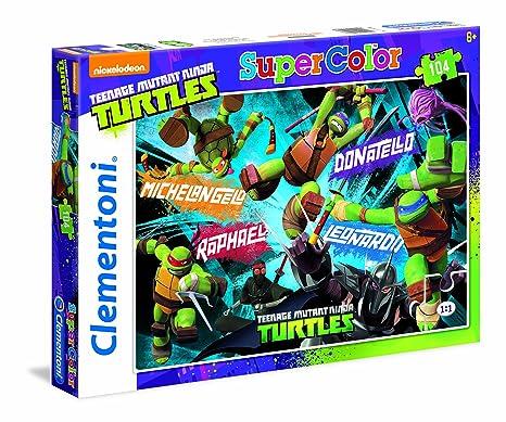 Desconocido Clementoni 27907 - Puzzle Supercolor TMNT Tortugas Ninja (104 Piezas)