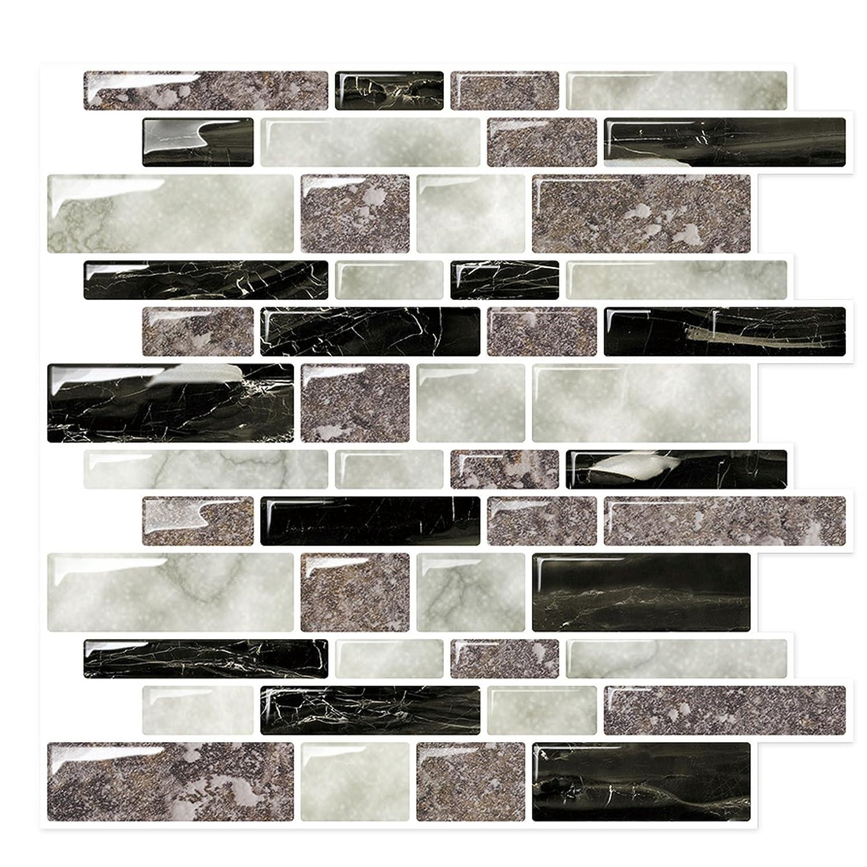 Amazon.com: Backsplash Tile Stickers for Kitchen & Bathroom - Peel ...