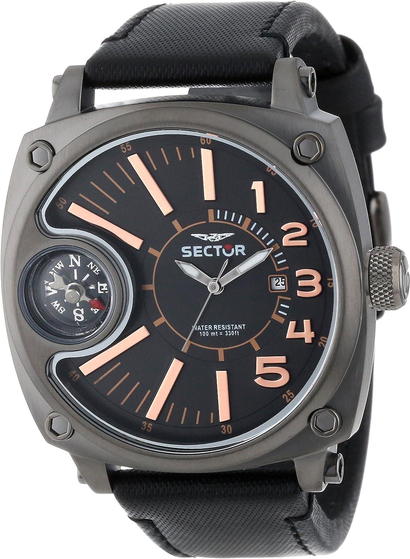 Sector R3251207004 - Reloj analógico de Cuarzo para Hombre con Correa de Nylon, Color Negro