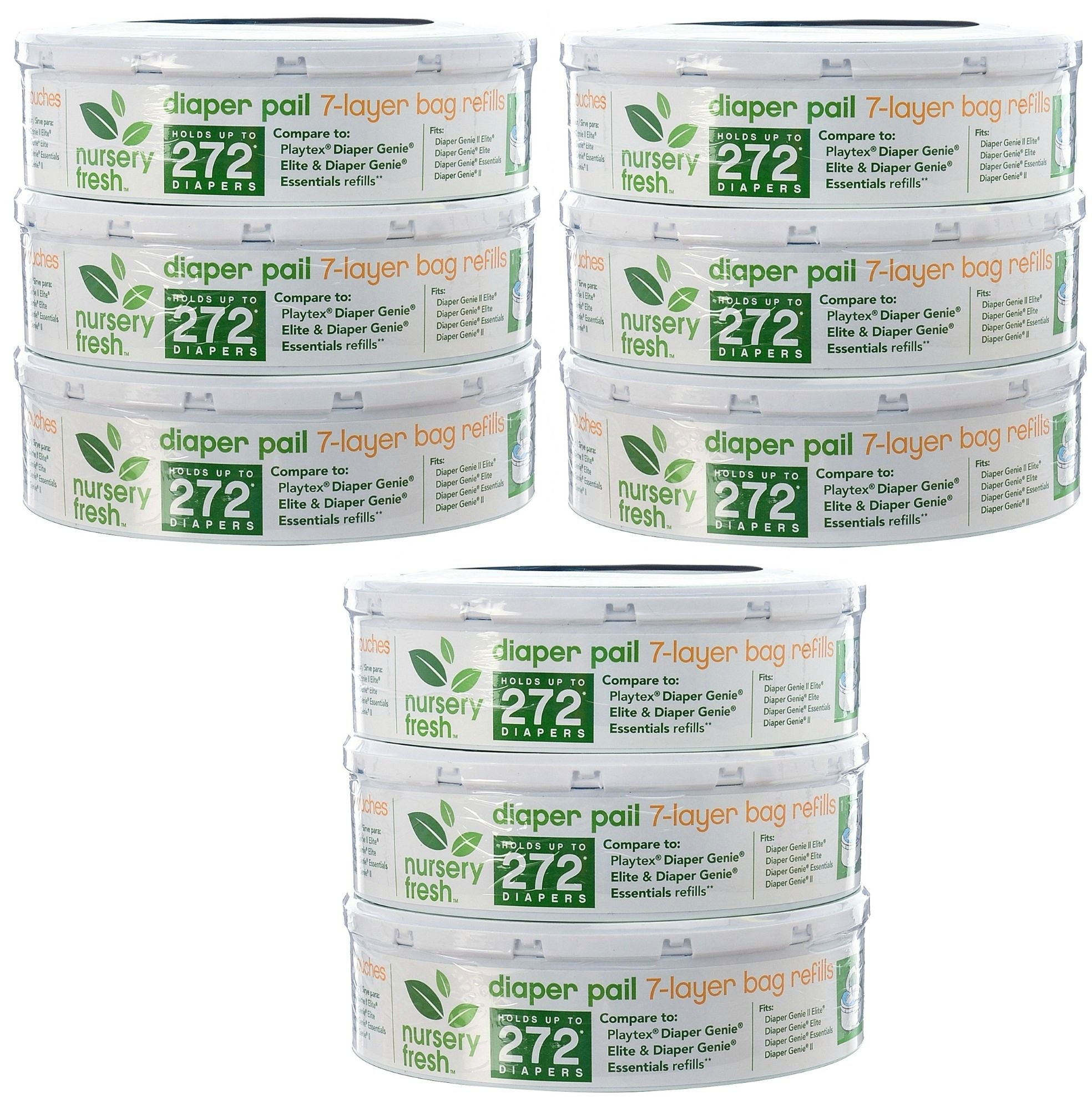 Nursery Fresh Diaper Pail Refill, 9 Pack